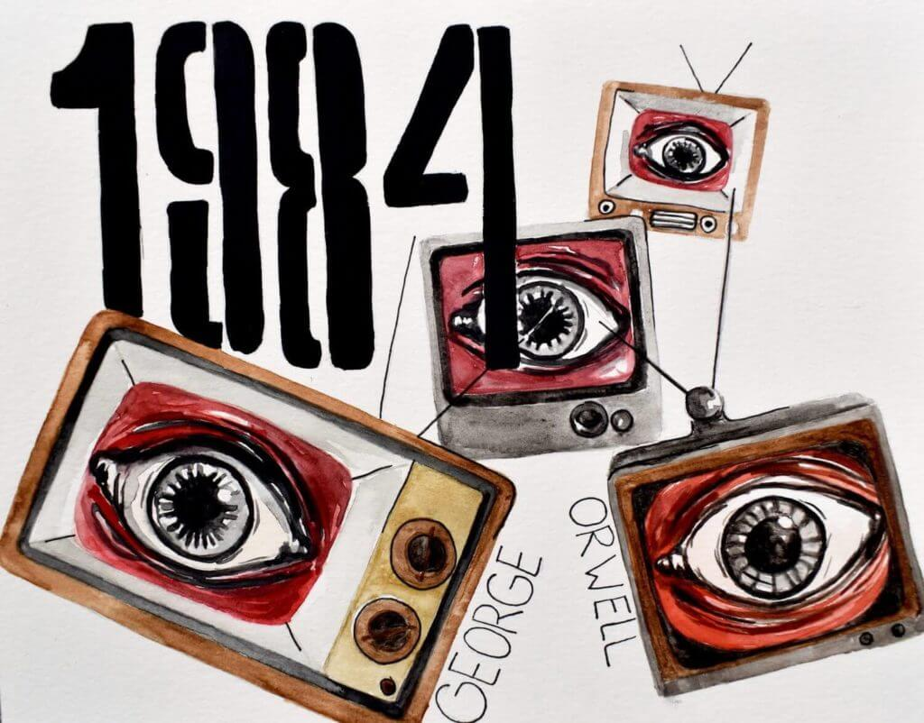 1984 by George Orwell Book Artwork Cover